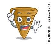 finger sweet wafer cone... | Shutterstock .eps vector #1162275145