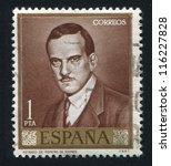 spain  circa 1965  stamp... | Shutterstock . vector #116227828