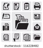 vector black document icons set ... | Shutterstock .eps vector #116228482