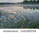 mist sky fog lake reflections... | Shutterstock . vector #1162285918