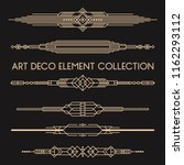 a collection of art deco style... | Shutterstock .eps vector #1162293112