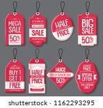 sale tag templates vector set.... | Shutterstock .eps vector #1162293295