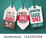 sale tag vector set. paper... | Shutterstock .eps vector #1162293298