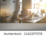 white board empty table with... | Shutterstock . vector #1162297078
