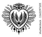 sacred holy heart jesus.... | Shutterstock .eps vector #1162297105