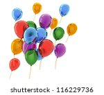 colorful balloons | Shutterstock . vector #116229736