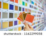 designers select fabrics and... | Shutterstock . vector #1162299058