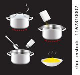 cooking and preparation...   Shutterstock .eps vector #1162310002