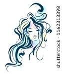 vector  stylish  original hand... | Shutterstock .eps vector #1162313398