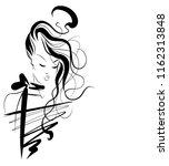 vector  stylish  original hand... | Shutterstock .eps vector #1162313848