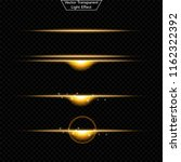 set of glowing light effect.  ... | Shutterstock .eps vector #1162322392