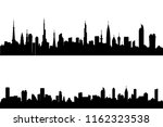 set of silhouette tall building.... | Shutterstock .eps vector #1162323538