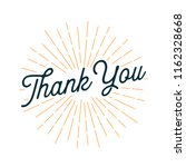 thank you card with sunburst | Shutterstock .eps vector #1162328668