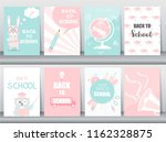 set of back to school card set  ... | Shutterstock .eps vector #1162328875