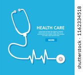 stethoscope cardiology. health... | Shutterstock .eps vector #1162334518