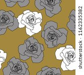 seamless floral pattern with... | Shutterstock .eps vector #1162335382