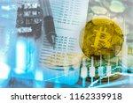 modern way of exchange. bitcoin ... | Shutterstock . vector #1162339918
