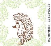 hedgehog. vector illustration | Shutterstock .eps vector #1162340278