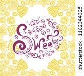 sweets. vector illustration | Shutterstock .eps vector #1162344325