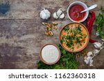 harcho or kharcho traditional... | Shutterstock . vector #1162360318