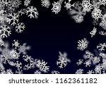 snowfall background. falling...   Shutterstock . vector #1162361182