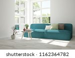 idea of white room with sofa... | Shutterstock . vector #1162364782