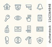 home security line icons | Shutterstock .eps vector #1162364848