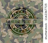genuine product on camo pattern | Shutterstock .eps vector #1162367725