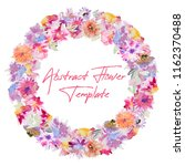 circle design from watercolor... | Shutterstock . vector #1162370488