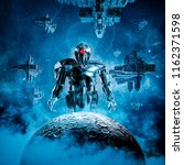 dawn of the machines   3d... | Shutterstock . vector #1162371598