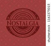 nostalgia red emblem | Shutterstock .eps vector #1162375015