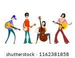 street orchestra. figures of... | Shutterstock .eps vector #1162381858