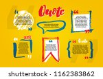 quote blanks with text bubble... | Shutterstock .eps vector #1162383862