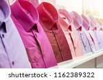 men's shirts in the clothing... | Shutterstock . vector #1162389322