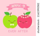 apple y ever after  typography ... | Shutterstock .eps vector #1162390582