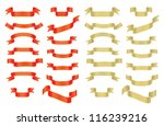 collection of red and golden... | Shutterstock .eps vector #116239216