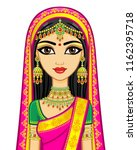 asian beauty. animation... | Shutterstock .eps vector #1162395718