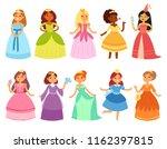 princess vector little girl... | Shutterstock .eps vector #1162397815
