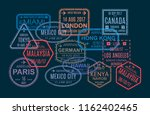 set of colorful stamp and... | Shutterstock .eps vector #1162402465