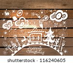christmas hand drawn background ... | Shutterstock .eps vector #116240605