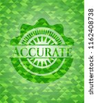 accurate realistic green emblem.... | Shutterstock .eps vector #1162408738