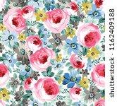 flower pattern on white | Shutterstock .eps vector #1162409188