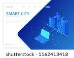 isometric modern city. concept... | Shutterstock .eps vector #1162413418