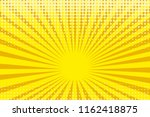 pop art yellow background ... | Shutterstock .eps vector #1162418875