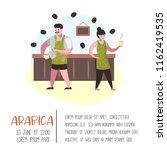 barista man and woman flat...   Shutterstock .eps vector #1162419535