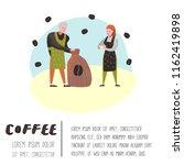 barista man and woman flat... | Shutterstock .eps vector #1162419898