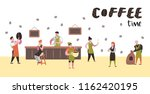 barista man and woman flat... | Shutterstock .eps vector #1162420195