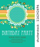 kid invitation card design.... | Shutterstock .eps vector #116242696