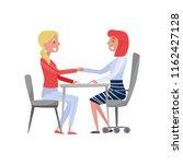 young woman having job...   Shutterstock .eps vector #1162427128