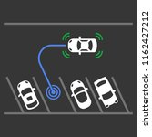 smart car parking assist system.... | Shutterstock .eps vector #1162427212